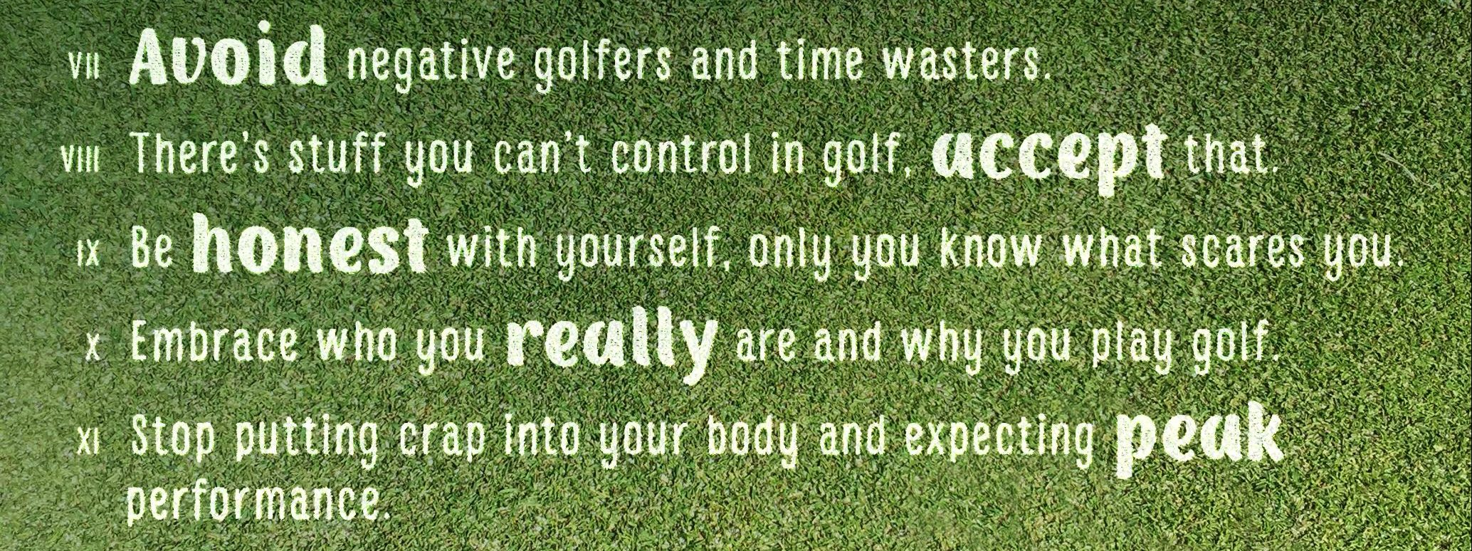 21 Rules Of Success: 12 Rules For Success At Golf